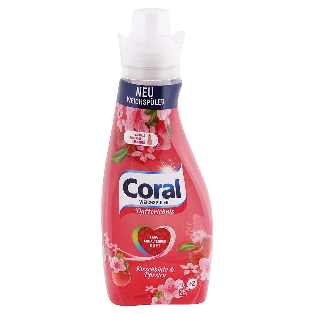 Levně CORAL Color aviváž Třešňový květ & Broskev 675 ml / 27 praní