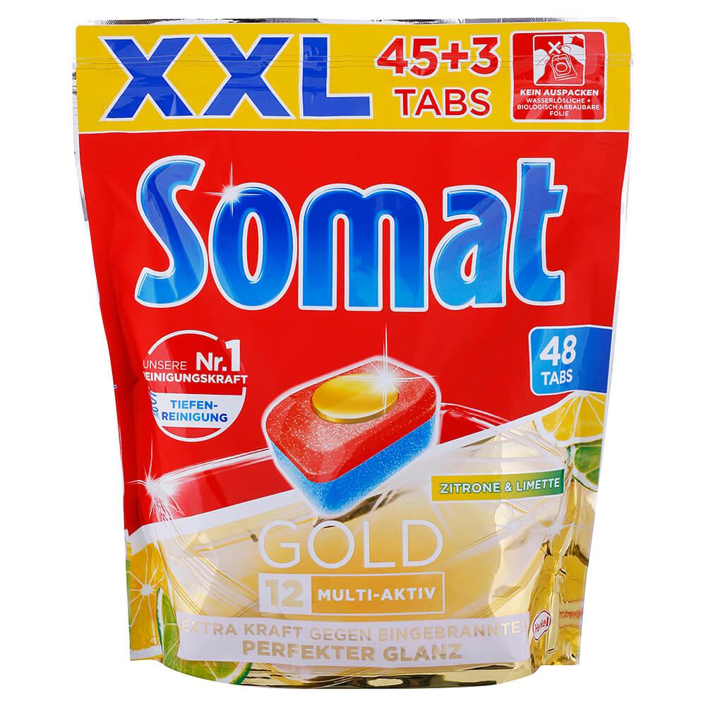 Levně SOMAT Gold tablety do myčky nádobí Citron a limetka 48 ks