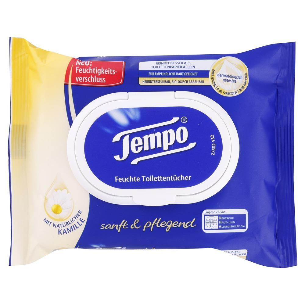 Levně TEMPO vlhčené toaletní ubrousky Heřmánek 42 ks