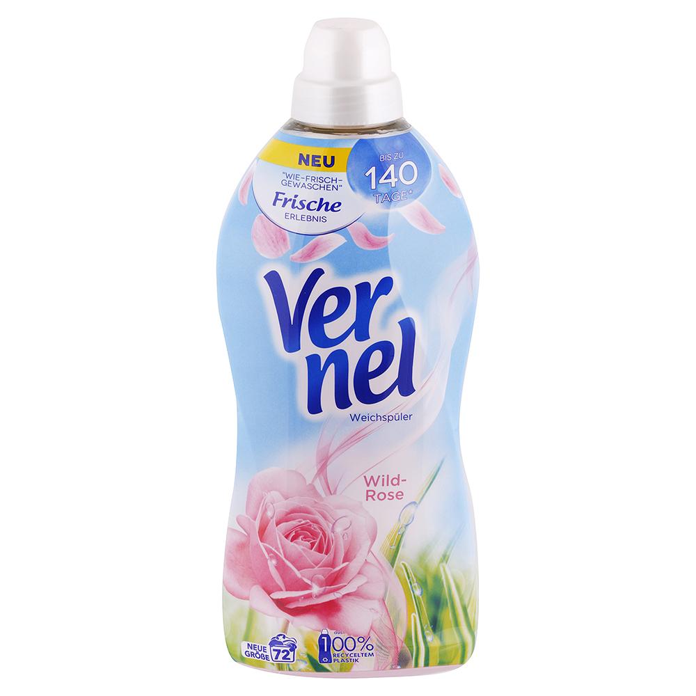 Levně VERNEL aviváž Divoká růže 1,8 l / 72 praní