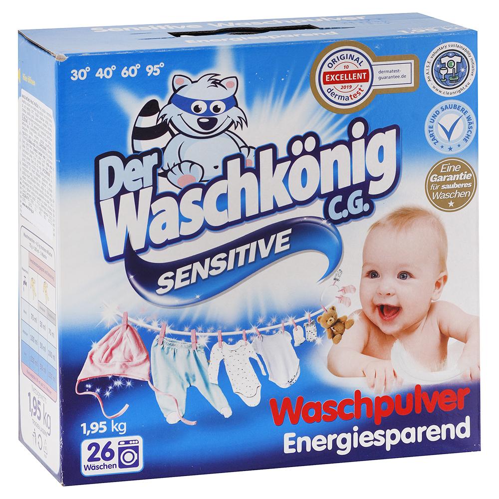 Levně WASCHKONIG prací prášek Sensitive 1,95 kg / 26 praní